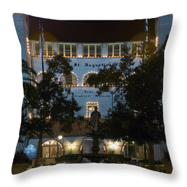Lightner At Night Throw Pillow by Kenneth Albin