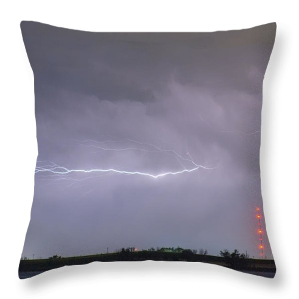 Lightning Bolting Across the Sky Throw Pillow by James BO  Insogna