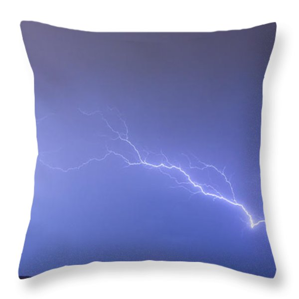 Lightning Bolts Coming In For A Landing Panorama Throw Pillow by James BO  Insogna