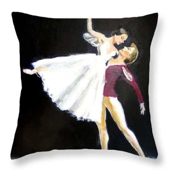 Ligne Throw Pillow by Judy Kay