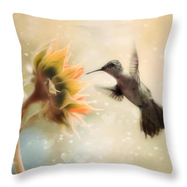 Like a Moth To a Flame Throw Pillow by Amy Tyler