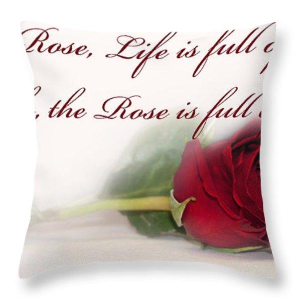 Like the Rose Throw Pillow by Mechala  Matthews