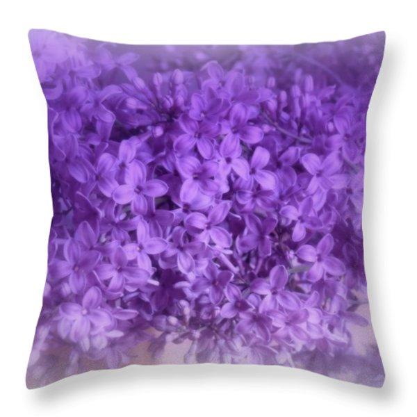 Lilac Fantasy Throw Pillow by Kay Novy