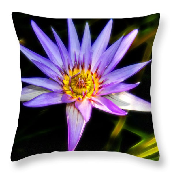 Lilac Lily Throw Pillow by Mariola Bitner