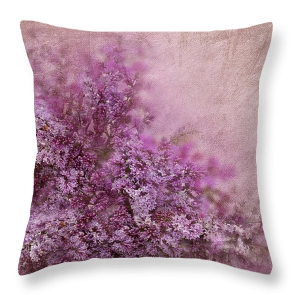 Lilac Splash Throw Pillow by Svetlana Sewell