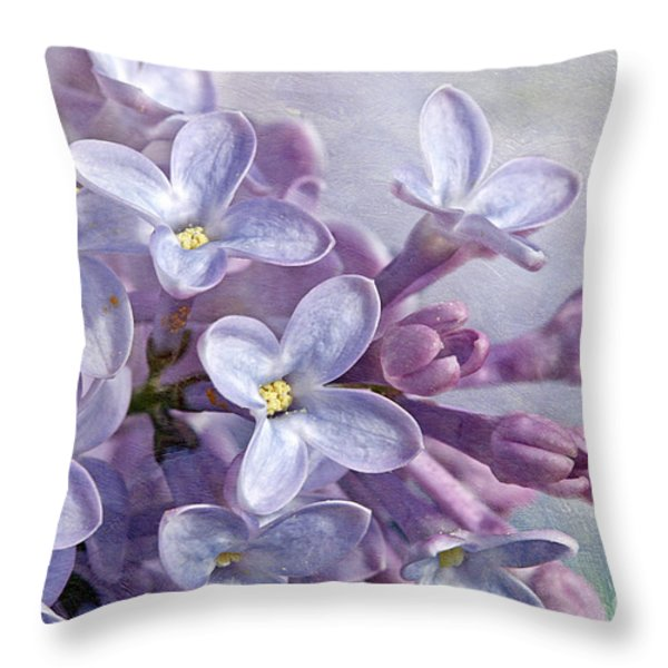 Lilacs Throw Pillow by Cindi Ressler