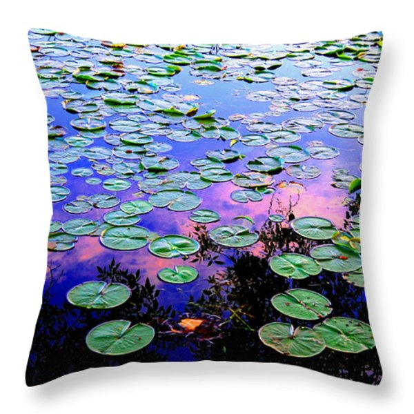 Lilly Pad Sunset Throw Pillow by Wendell Lowe