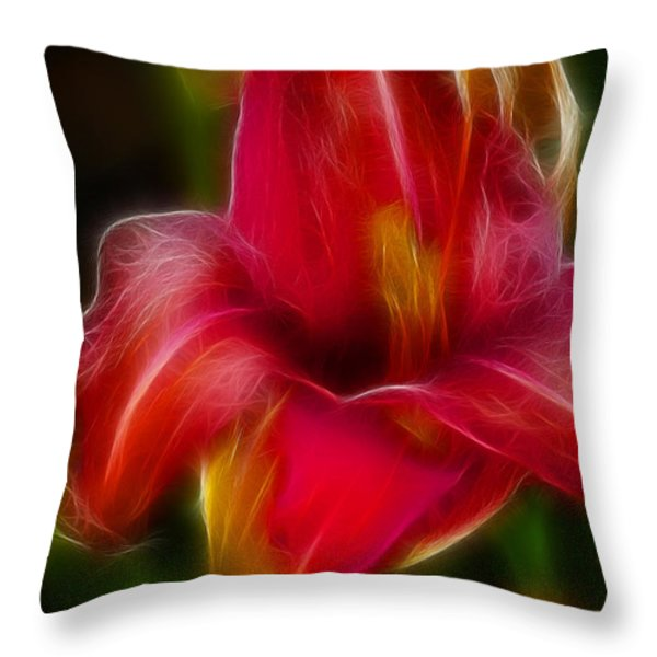 Lily 6081-fractal Throw Pillow by Gary Gingrich Galleries