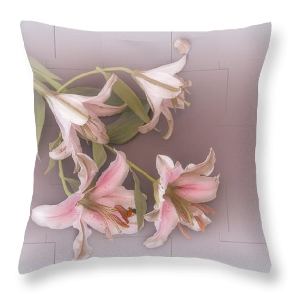 Lily Throw Pillow by Elaine Teague
