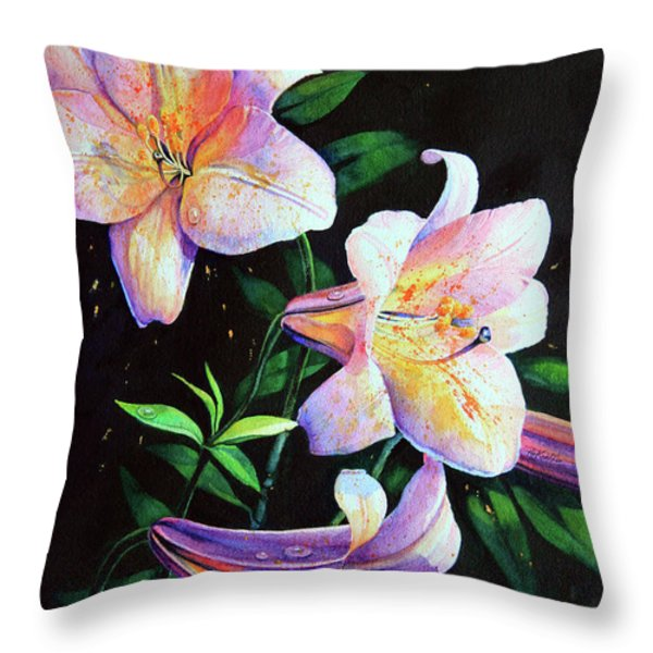 Lily Fiesta Throw Pillow by Hanne Lore Koehler