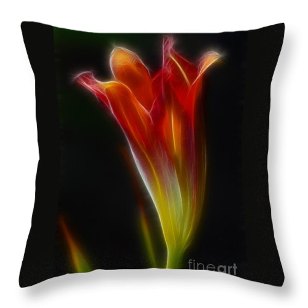 Lily Opening-5964 Throw Pillow by Gary Gingrich Galleries