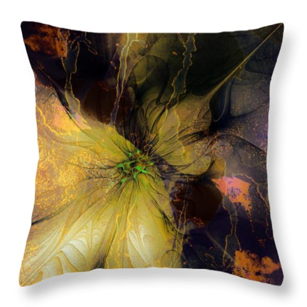 Lily Pond Reflections Throw Pillow by Amanda Moore