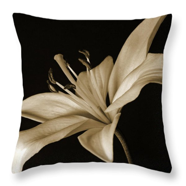Lily Throw Pillow by Sandy Keeton