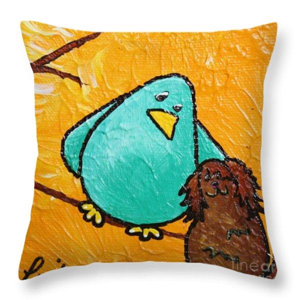 Limb Birds - Bird Dog Throw Pillow by Linda Eversole