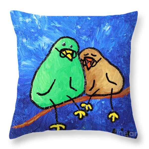 Limb Birds - Lasting Love Throw Pillow by Linda Eversole