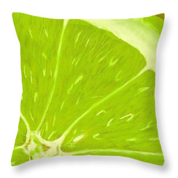 Lime Throw Pillow by Anastasiya Malakhova