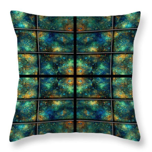 Limitless Night Sky Throw Pillow by Betsy A  Cutler