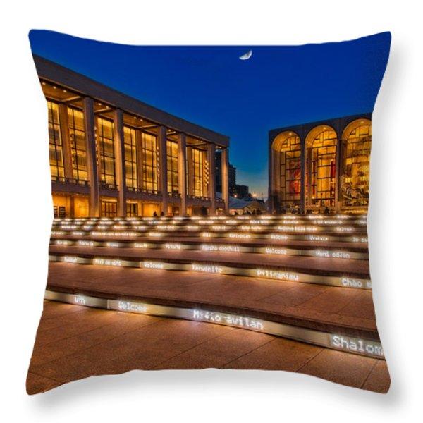 Lincoln Center Throw Pillow by Susan Candelario