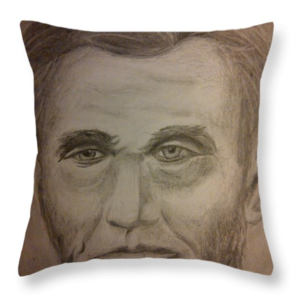 Lincoln Throw Pillow by Irving Starr