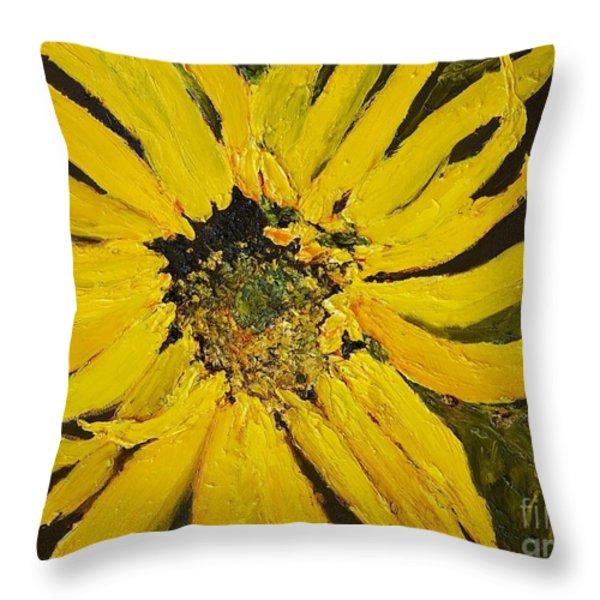 Linda's Arizona Sunflower 2 Throw Pillow by Sherry Harradence