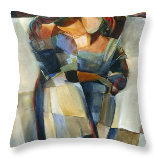 Lines Crossed Throw Pillow by Jen Norton