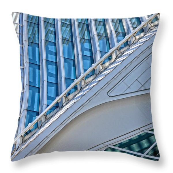 Lines Of The Calatrava Throw Pillow by Mary Machare
