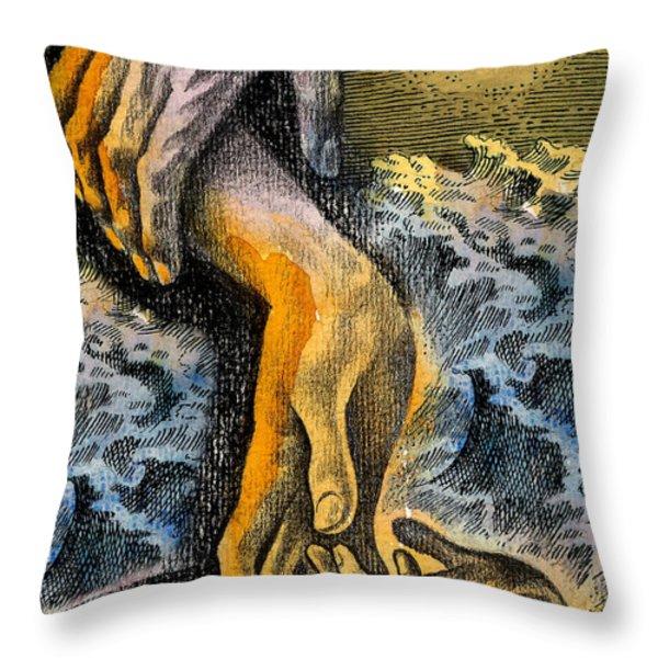 Link Throw Pillow by Leon Zernitsky