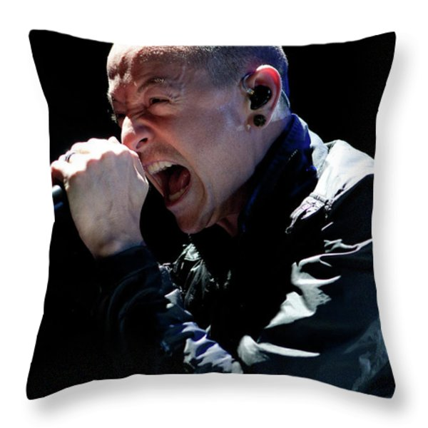 Linkin Park4550 Throw Pillow by Timothy Bischoff