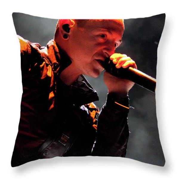 Linkin Park4576 Throw Pillow by Timothy Bischoff
