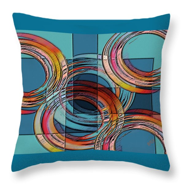 Links Throw Pillow by Ben and Raisa Gertsberg