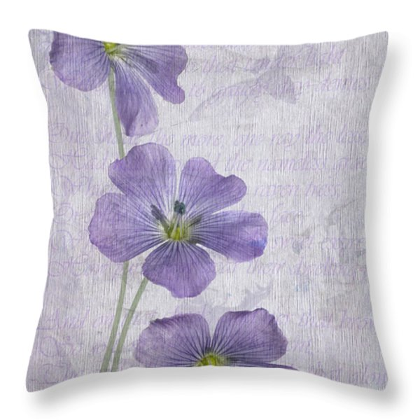 Linum Throw Pillow by John Edwards
