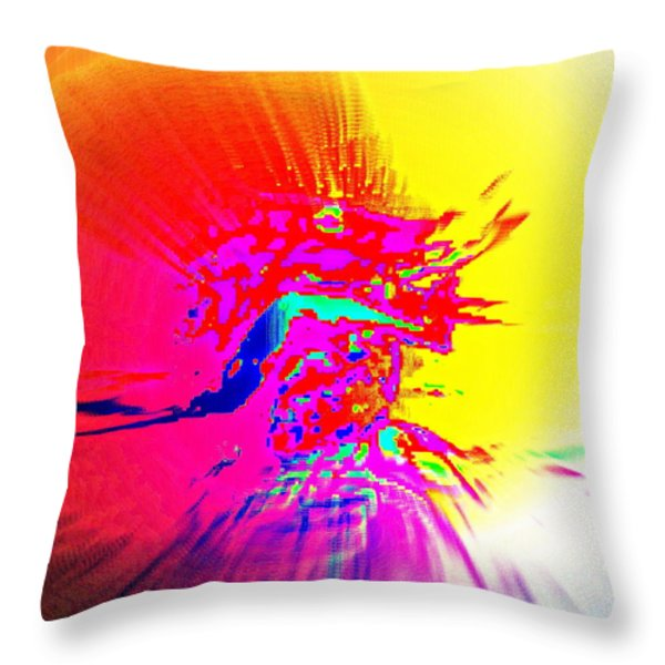 Lion King Throw Pillow by Hilde Widerberg
