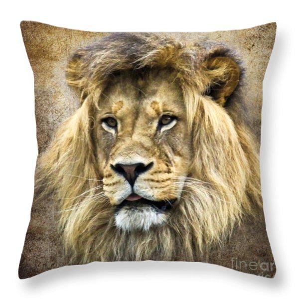 Lion King Throw Pillow by Steve McKinzie