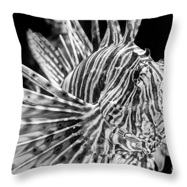 Lionfish Throw Pillow by Jamie Pham