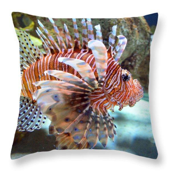 Lionfish Throw Pillow by Sandi OReilly