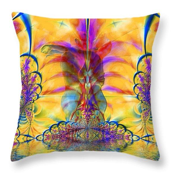 Liquid Lace Throw Pillow by Kurt Van Wagner