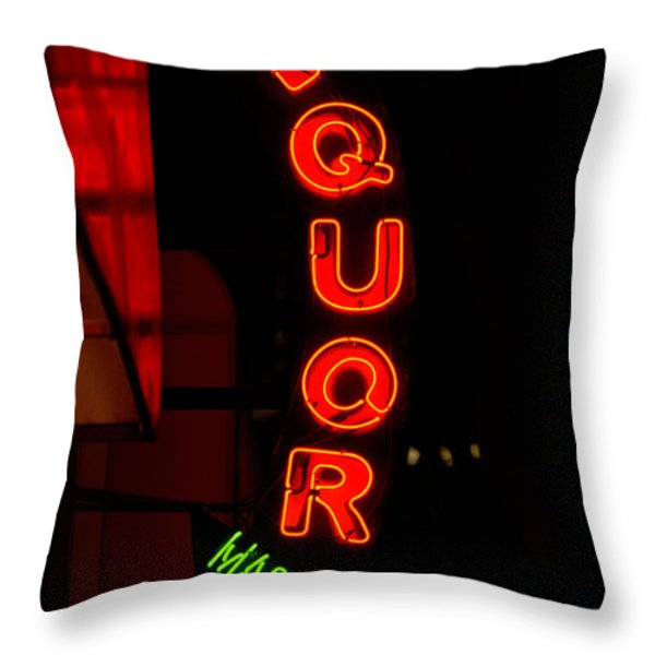 Liquor Market Throw Pillow by Lee Roth