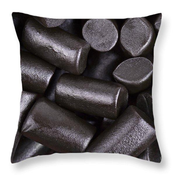 Liquorice Background Throw Pillow by Jane Rix