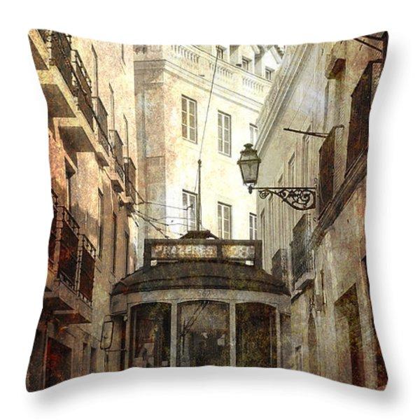 Lisbon Streetcar Throw Pillow by Daniel Hagerman
