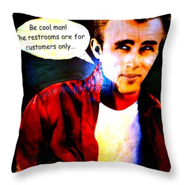 Listen To James Throw Pillow by Ed Weidman