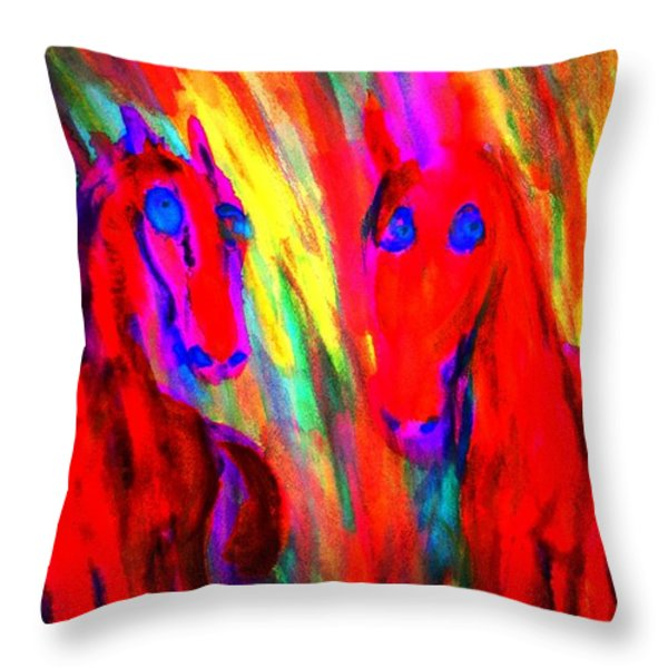 listen to the dragon news Throw Pillow by Hilde Widerberg