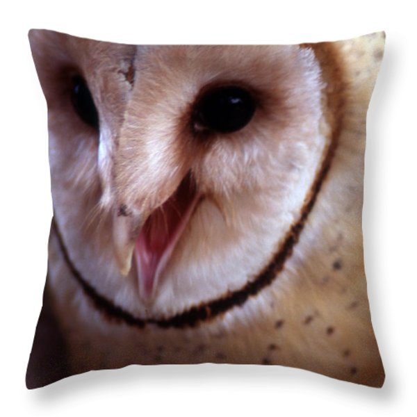 LISTEN UP BUD Throw Pillow by Skip Willits