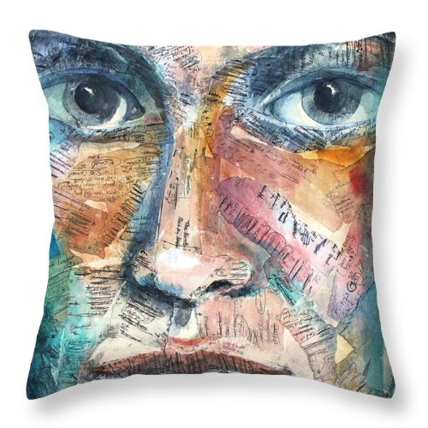 Listperson IIi Throw Pillow by Patricia Allingham Carlson