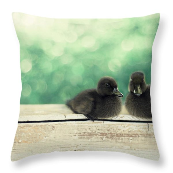 Little Buddies Throw Pillow by Amy Tyler