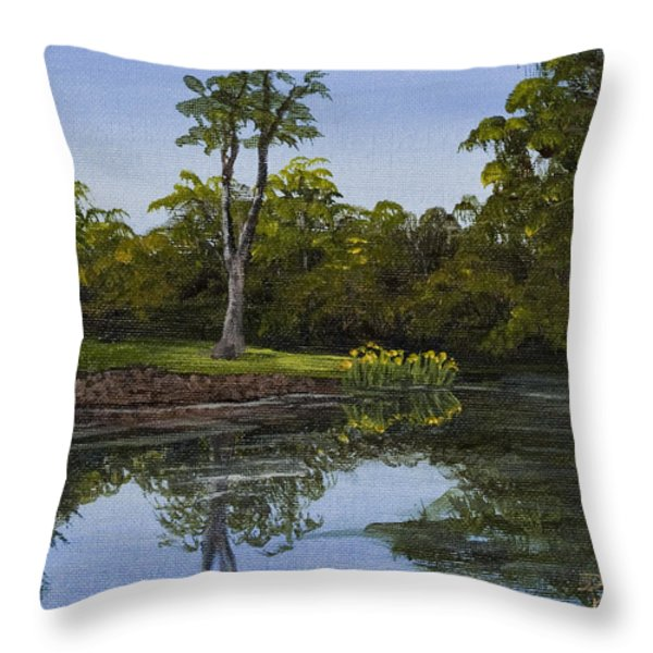 Little Chico Pond Throw Pillow by Darice Machel McGuire
