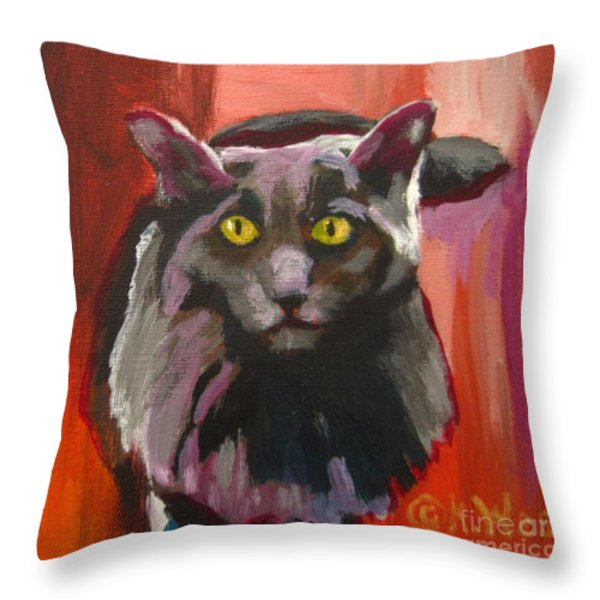 Little Darling Knows Throw Pillow by Katrina West