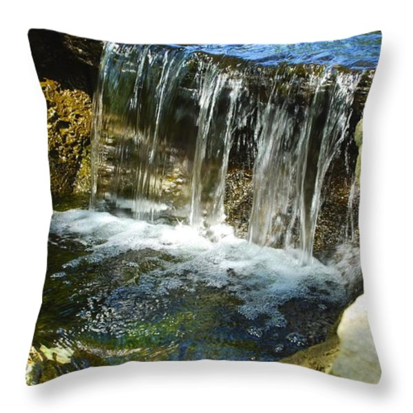 Little Falls 3 Throw Pillow by Charlie Brock