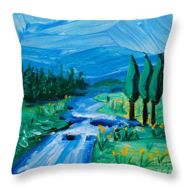 Little Landscape Throw Pillow by Lidija Ivanek - SiLa