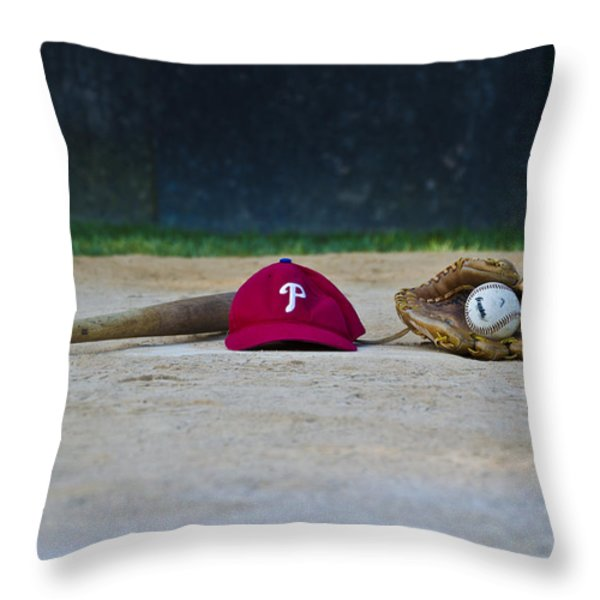 Little League Dreams Throw Pillow by Bill Cannon