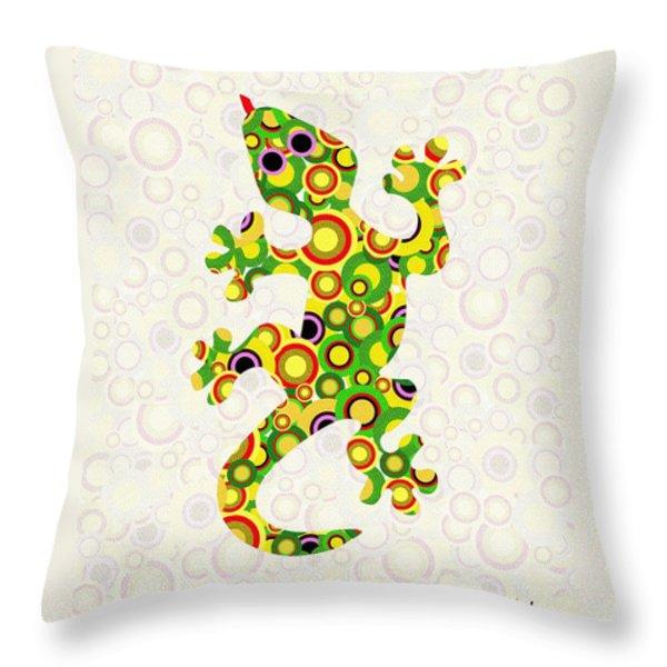 Little Lizard - Animal Art Throw Pillow by Anastasiya Malakhova